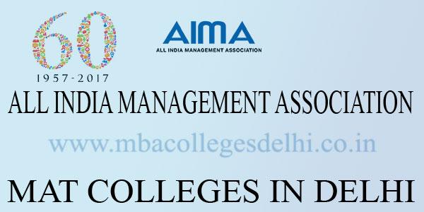 MAT Colleges Delhi